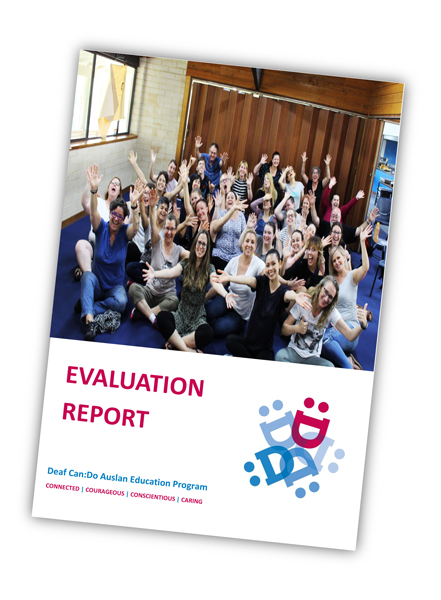 Auslan Education Camp Evaluation Report Front Cover